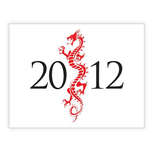 gung hay fat choy dragon for 2012 happy chinese new year - Chinese New Year 2012