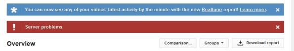 You Tube Server Problems