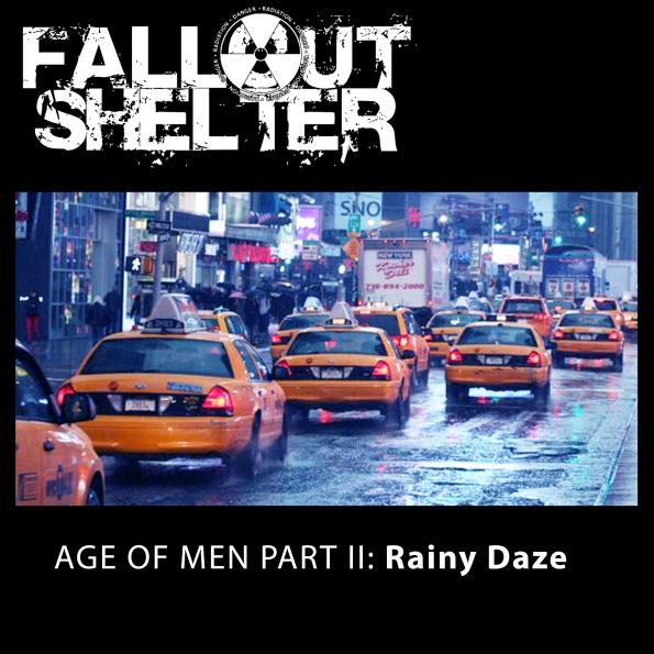 Album Cover Fallout Shelter Age of Men Rainy Daze