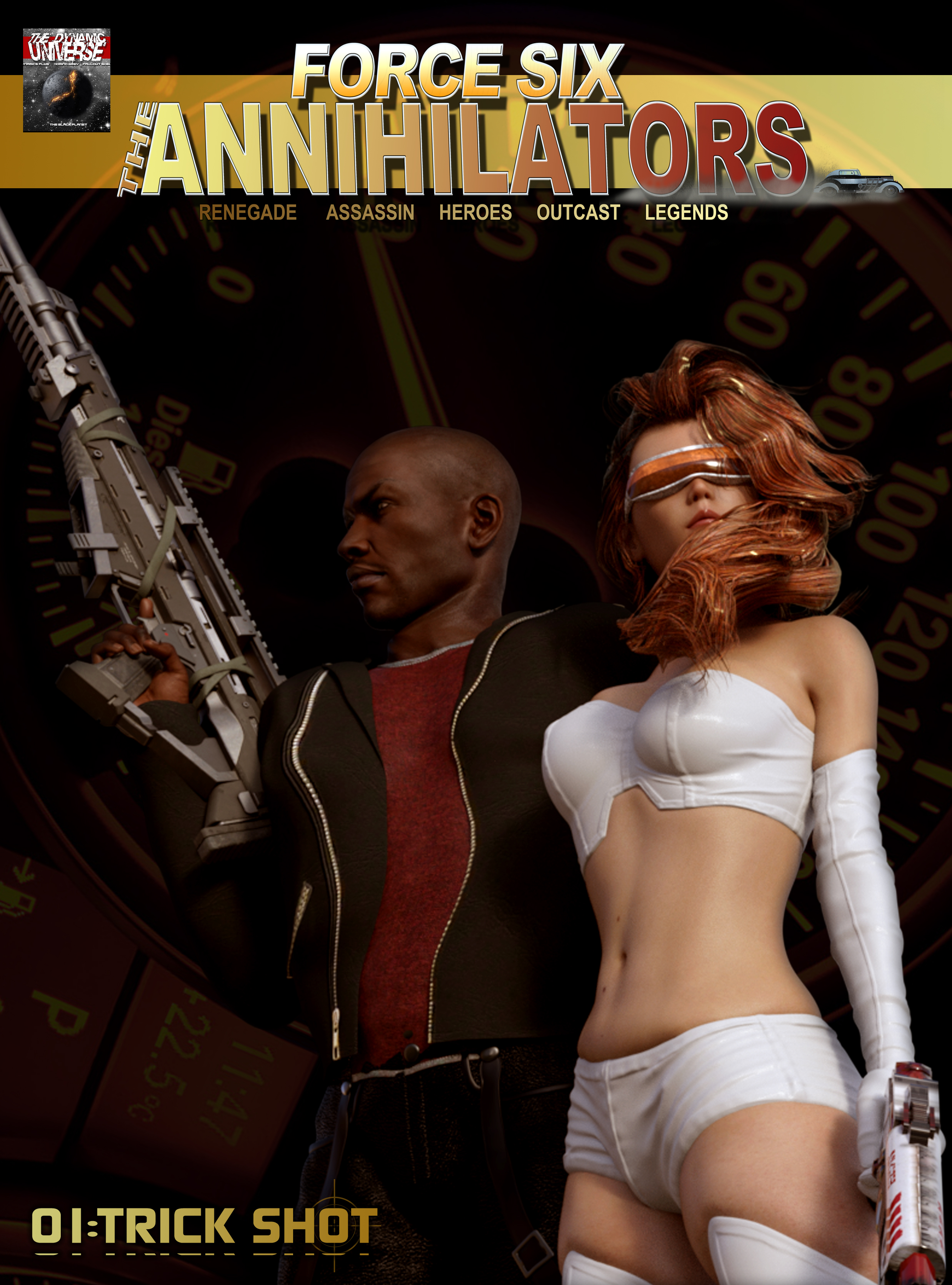 Force Six The Anniliators comic cover