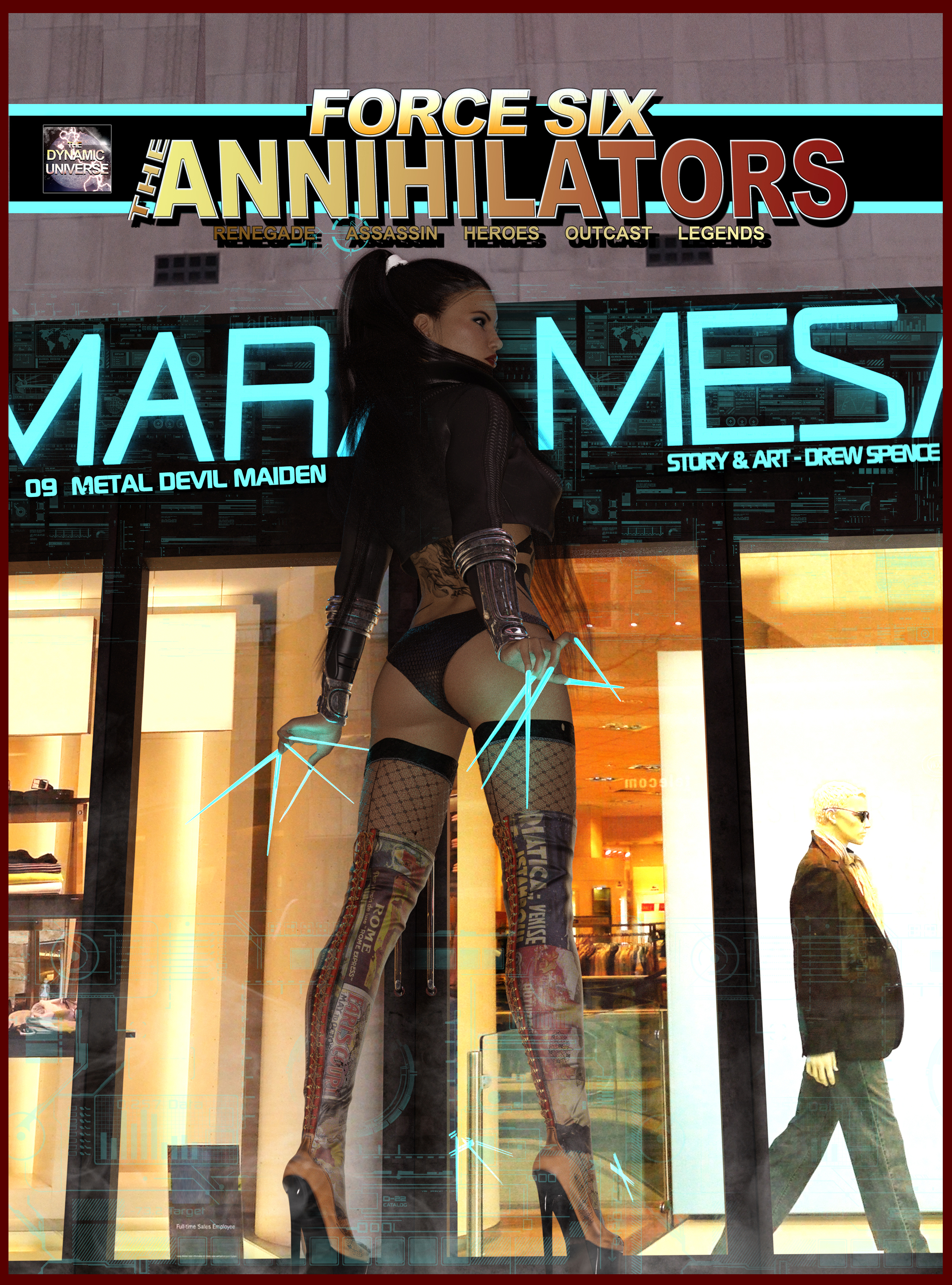 Force Six Annihilators graphic comic book cover