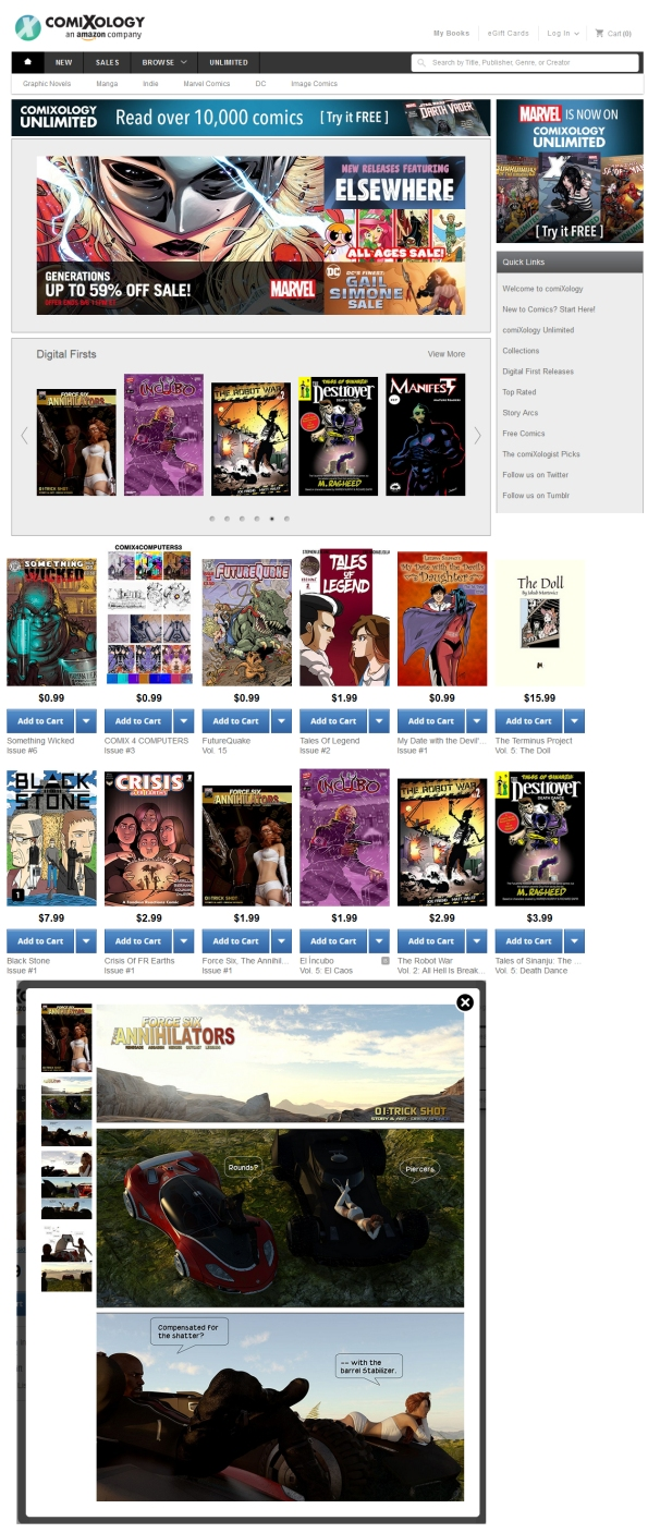 Comixology Screen capture