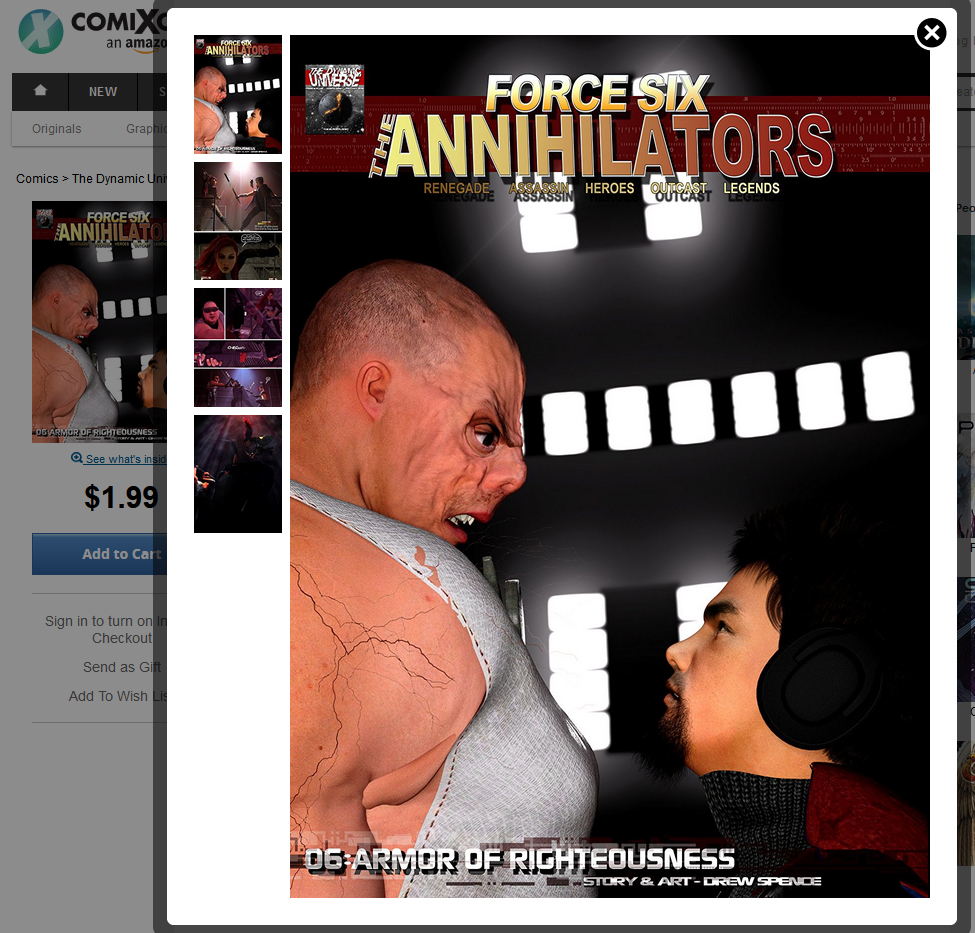 cover preview of Force Six The Annihilators from comiXology