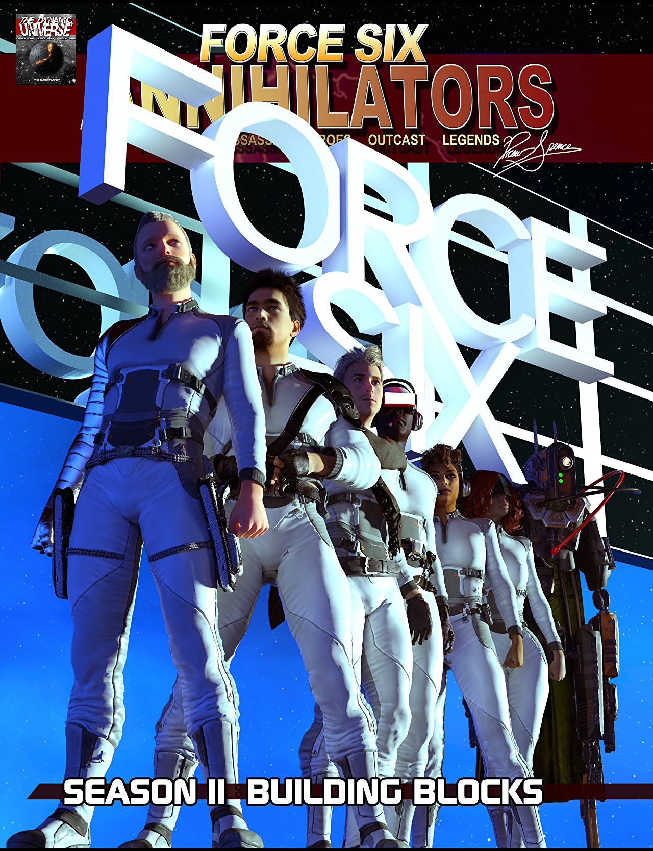 Force Six season II comic cover