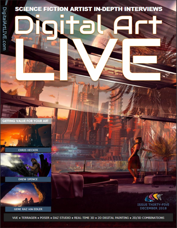 Digital Art Live magazine cover issue 35